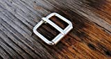 Sterling Silver Belt Buckle-925 Solid Bridle Roller Buckle w/Silver Prong - USA UK