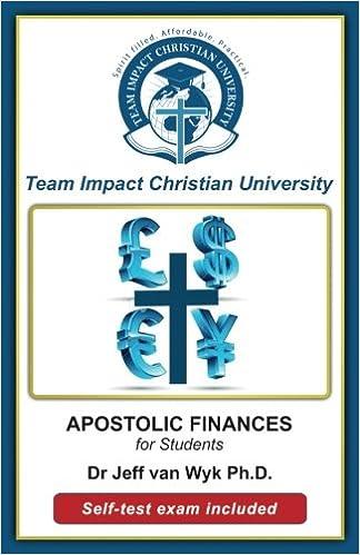 Apostolic Finances for Students: Jeff van Wyk Ph D , Team