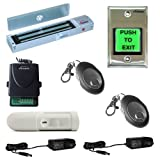 FPC-5355 One door Access Control Outswinging door 600lbs Electromagnetic lock kit with Vsions Wireless Receiver Remote and PIR Kit