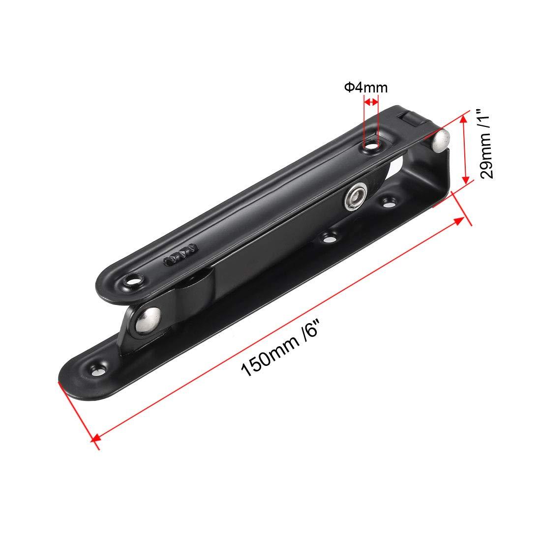 Sourcingmap Soporte plegable para estanter/ías mesas escritorios ahorro de espacio montaje en pared brazo de liberaci/ón larga plegable acero al carbono