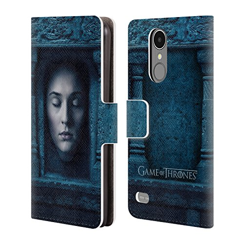 Official HBO Game Of Thrones Sansa Stark Faces Leather Book Wallet Case Cover For LG K8 (2017) / (Sansa Leather Case)
