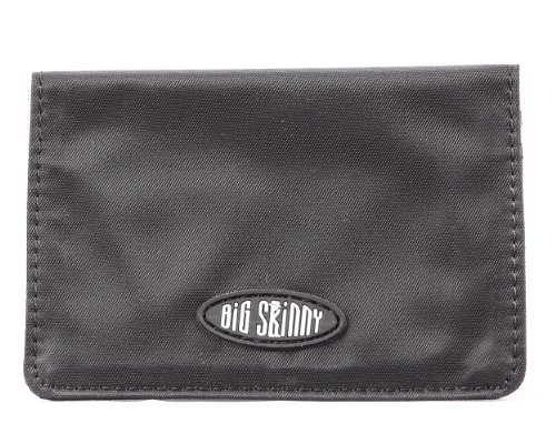 Big Skinny Card Case Slim Wallet, Holds Up to 16 Cards, Black