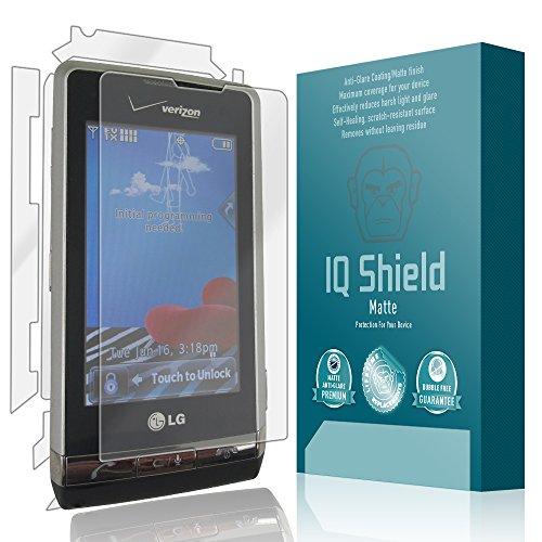 (IQ Shield Matte Full Coverage Anti-Glare Full Body Skin + Screen Protector for LG Dare (VX9700) Anti-Bubble Film)