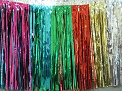 Metallic Multi Color Fringed Valance Party Decoration Garland 10 Ft Long X 15