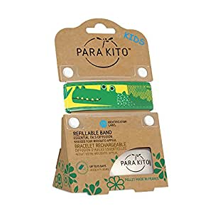 PARA'KITO Refillable Mosquito Wristband - Kids Edition (Crocodile)