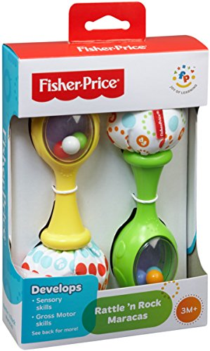 Large Product Image of Fisher-Price Rattle 'n Rock Maracas, Green/Yellow