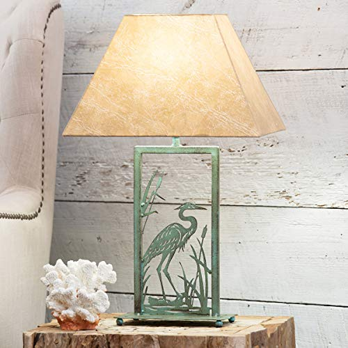 Bella Coastal Decor Heron Metal Art Table ()