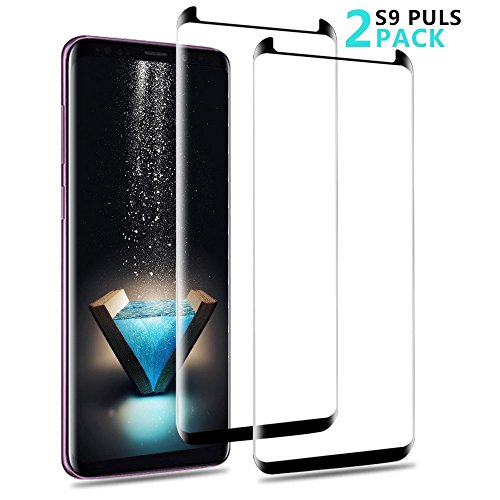 S9 Plus Screen Protector,AAJO [Anti-Bubble][Scratch Resistant][Easy Installation][3D Curved][Case Friendly] Tempered Glass Screen Protector for Samsung Galaxy S9 Plus(2 Pack)