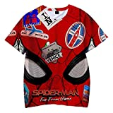 Boys Spiderman Far from Home Funny Pattern Cosplay 3D Print Short Sleeve t Shirt for Children 160