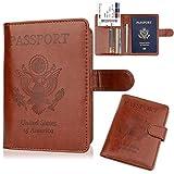 GDTK Leather Passport Holder Cover Case RFID