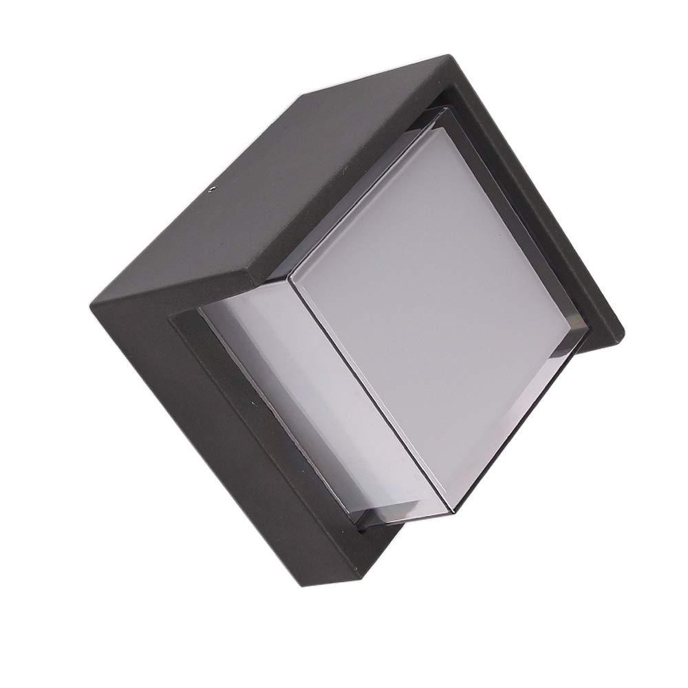 Moderne Kreative Staub- Und Regendichte Außenwandleuchte, Schwarz Matt, 9W, Warmes Licht, Größe  17  10cm