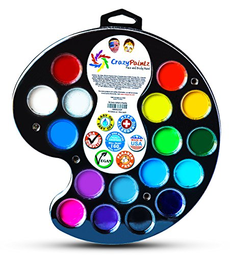 Face painting artists palette perfect kit with 16 best for Best paint supplies