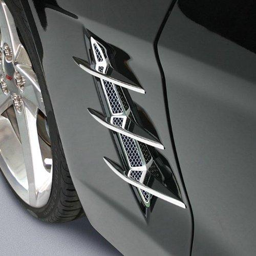 Corvette Fender Blades Billet Chrome (Triple Blades) : C6 (C6 Billet)