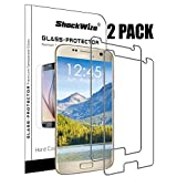 Samsung Galaxy S7 [Improved] Ballistic Screen Protector ShockWize [2 Pack] [Tempered Glass] [Case Friendly NOT Edge to Edge] Premium Real Glass Screen Protector Galaxy S7