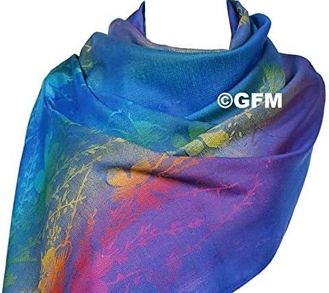GFM/® Femme couleurs de larc-en-ciel /écharpe style pashmina en motif floral