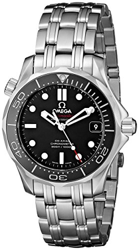 - Omega Men's O21230362001002 Seamaster Analog Display Automatic Self Wind Silver Watch