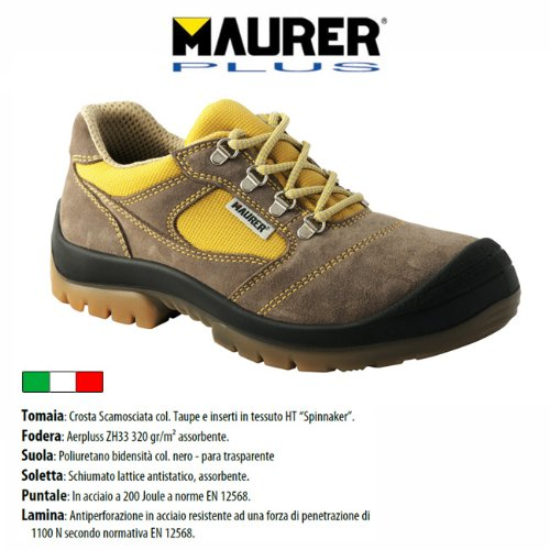 chaussure de prevention des accidents de Postojna suede orteil semelle ° 4