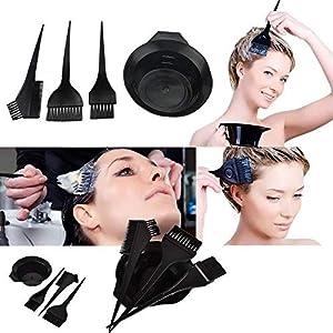ZEBEX Hair Colouring Brush Set with Bowl (Black)
