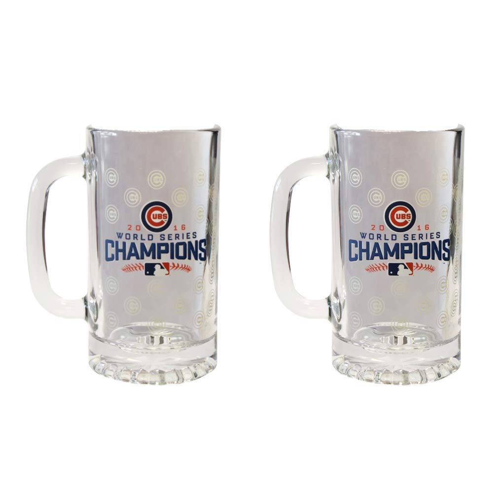 Cubs Beer Glass - 2016 World Series 16 ounce Mug (2)