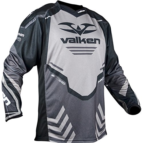 Valken Paintball Agility V17 Paintball Jersey - Grey/Black - Medium
