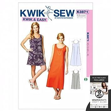 Kwik Sew Damen Schnittmuster 3871 – Kleid (O/S): Amazon.de: Küche ...