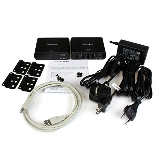 StarTech.com 4 Port USB 2.0 Extender over Cat5 or Cat6 - Up to 330-Feet (100m) (USB2004EXT2) by StarTech (Image #3)