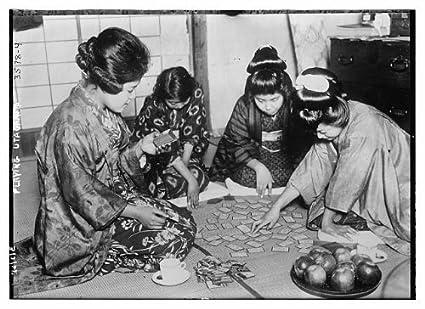 Foto: Playing Uta Garuta, Karuta, japonés tradicional juego ...