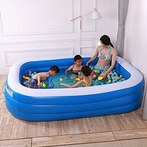 YAMMY Piscina Inflable para Adultos súper Grande, Piscina para niños de la casa Juguetes Piscina de Juego al Aire Libre Jardín de Verano Rectangular: Amazon.es: Deportes y aire libre