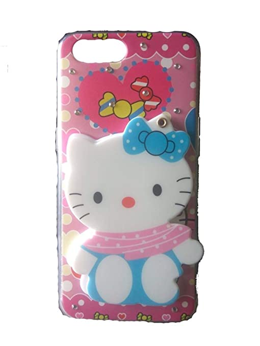 sneakers for cheap 2a450 54f5a Anvika Mirror Makeup Hello Kitty 3D Printed Cat Design Girls Back Cover for  Oppo A5 (Launsh in 2018)