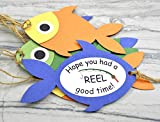 Fishing Theme Party Favor Fish Gift Tags - Set of 12