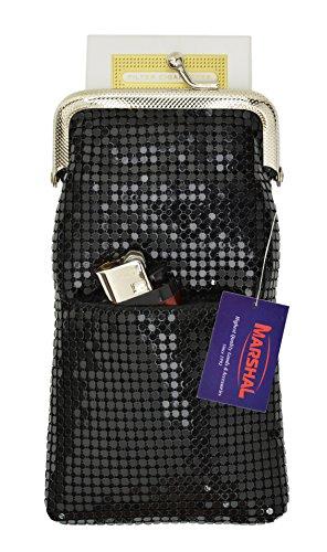 New Design Sequin Cigarette Soft Mesh 100s 120 S Cigarette Case By Marshal (LighterPocket Black) ()