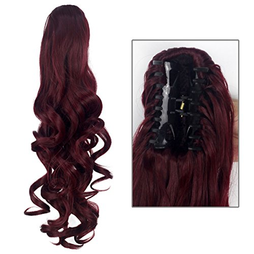 Girls Ponytail Extensions Hairpiece Burgundy product image