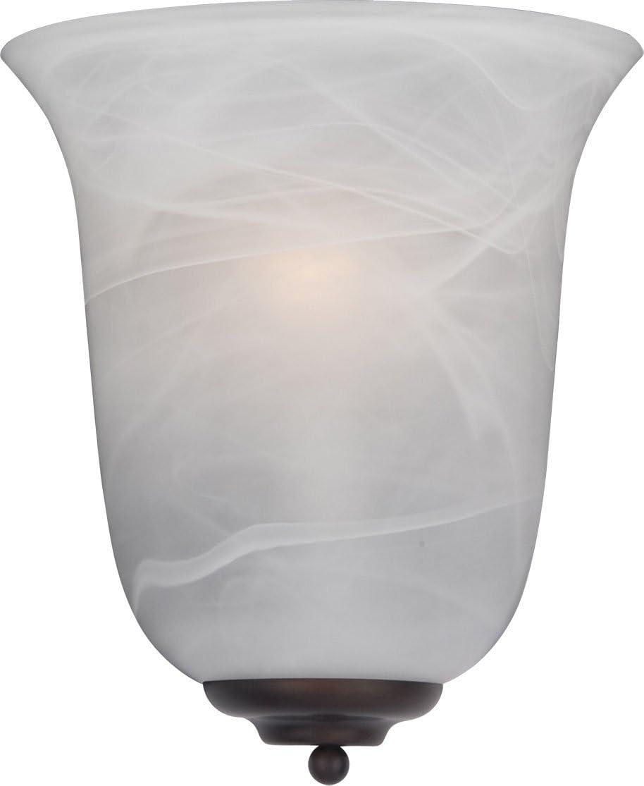 Maxim 20581MROI, Essentials Wall Sconce, 1-Light 100 Watts, Oil Rubbed Bronze