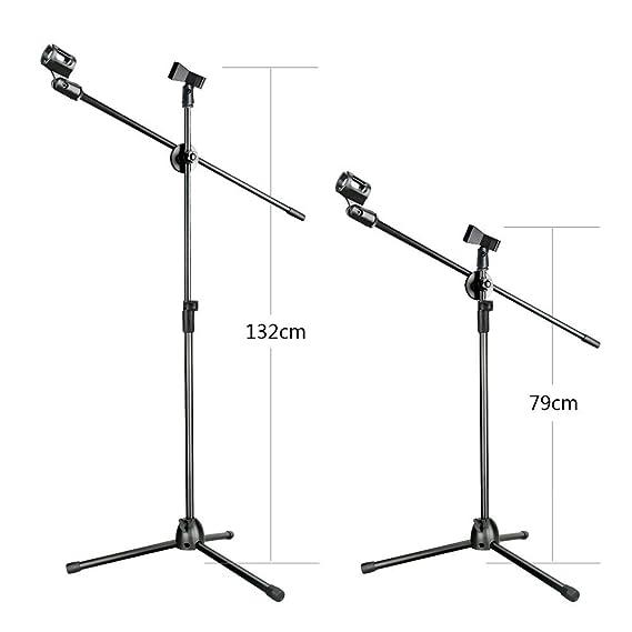 aokeo radiodifusión de estudio profesional/grabación micrófono de condensador AK-70 & ak-107 tipo plegable Altura ajustable Micrófono Trípode Brazo Kit de ...