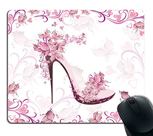 Smooffly Pink high heel Mouse Pad