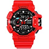 V2A Analogue-Digital Black Dial Men's Watch (Sml-1436-Red)