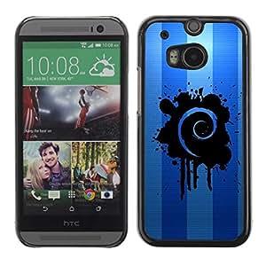 Be Good Phone Accessory // Dura Cáscara cubierta Protectora Caso Carcasa Funda de Protección para HTC One M8 // Blue Swirl