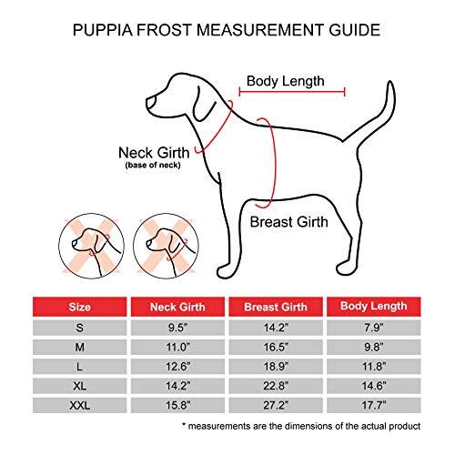 Puppia PLSD-VT1668-BK-M Frost Pet Coat, Black, Medium by Puppia (Image #6)