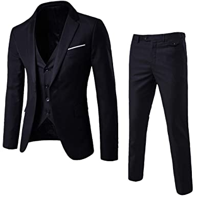 21e918fb63234 Image Unavailable. Image not available for. Color: Men Formal Suit,Vanvler  Male Blazer Jacket ...