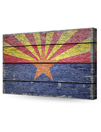 DecorArts - Arizona State Flag. Giclee Print on 100% Archival Cotton Canvas, Canvas wall art for Wall Decor 24x16'' by DECORARTS (Image #1)