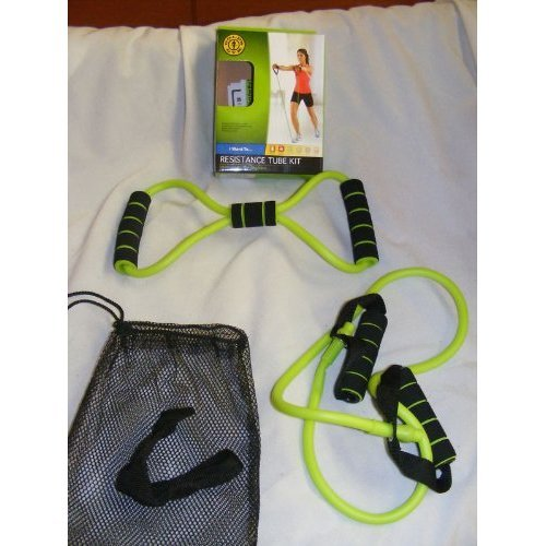 """ABC Products"" - Pkg of 2 ~ Exercising Resistance Tube - Medium Strength (Green Color Finish - With Storage Bag)."