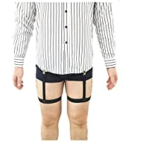 8866bfb5b0f Jelinda 1 Pair Mens Adjustable Invisible Shirt Stay Shirt Garter Belt  Accessories