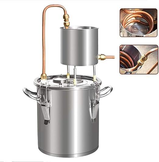 220V 25-55L Moonshine Still Distiller Spirits Water Alcohol Oil Wine Brewing Kit
