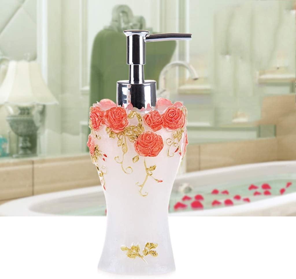 Creativo Resina Dispensador de jabón Emulsión Botella Prensador Baño Europeo Sub-Botella (PATRÓN : B, Tamaño : 300ml)