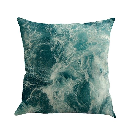 SUNONE11 Ocean Sea Wave Throw Pillow Covers Protector