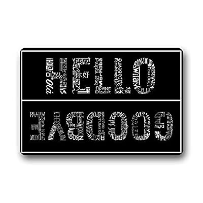 future origin Hello And Goodbye Welcome Mats Floor Mat Rug Carpets Indoor/Outdoor (23.5