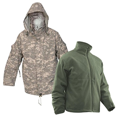 Tru-Spec H2O Proof Gen 2 ECWCS ACU Digital Parka w/Foliage Fleece Jacket, (Acu Parka)