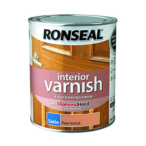 - Ronseal Interior Varnish Quick Dry Satin Pearwood 750ml