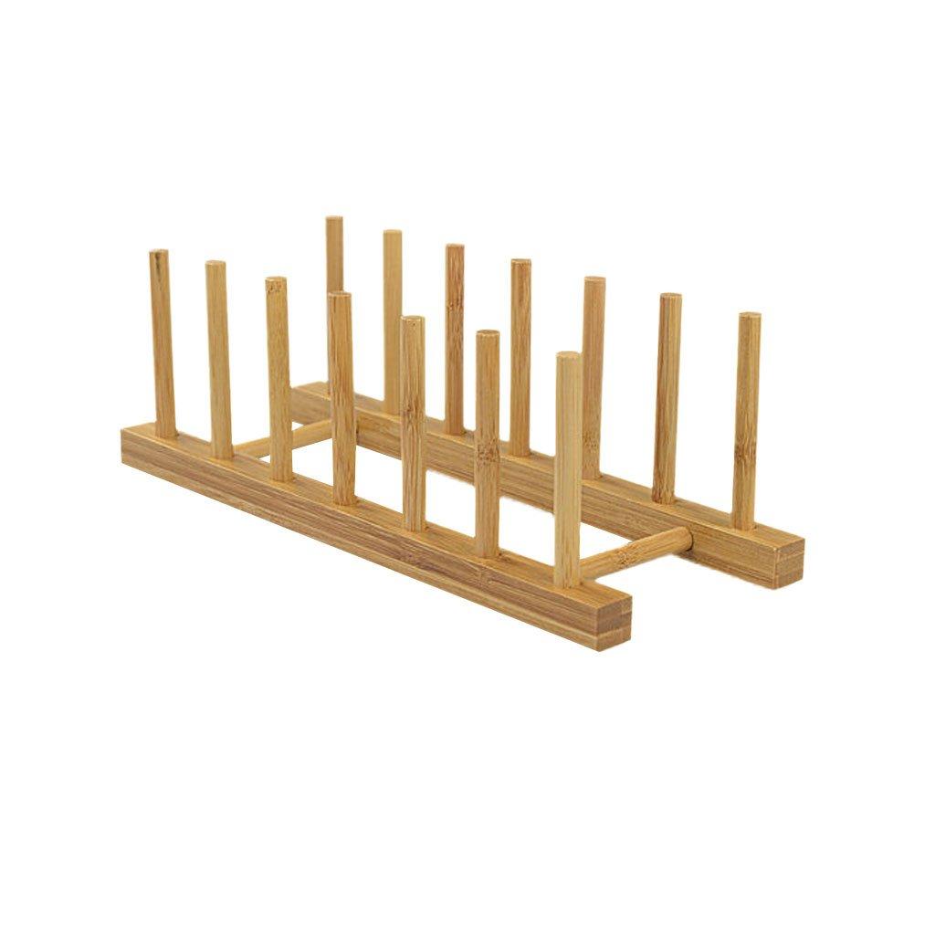 FITYLE 6 Griglie Cremagliera Vano Portaoggetti Piatto Titolare Cucina Di Bambù DIY