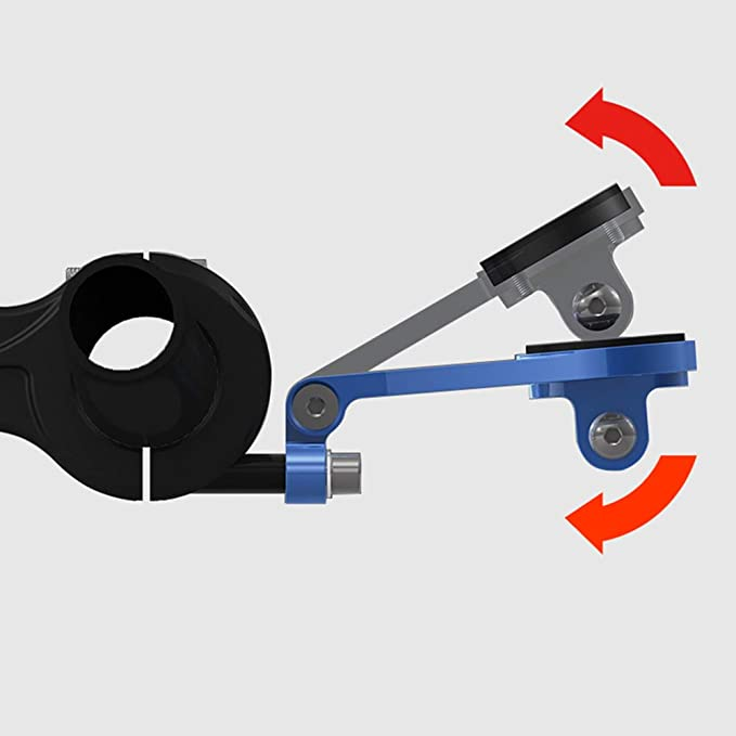 Xingsiyue Bike Computer Adjustable Mount Front Bracket for Sigma ROX 12.0 Sport//ROX GPS 7.0 and 11.0,with Flashlight Support Red